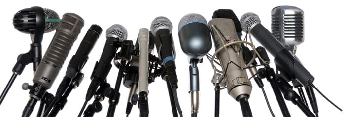 Music Teacher Surrounded By 27 Microphones Decides to Scream Opening Remarks at Audience Instead