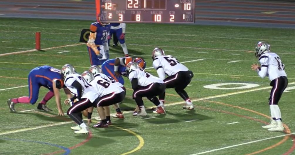 Picture of Warde Football in FCIAC play