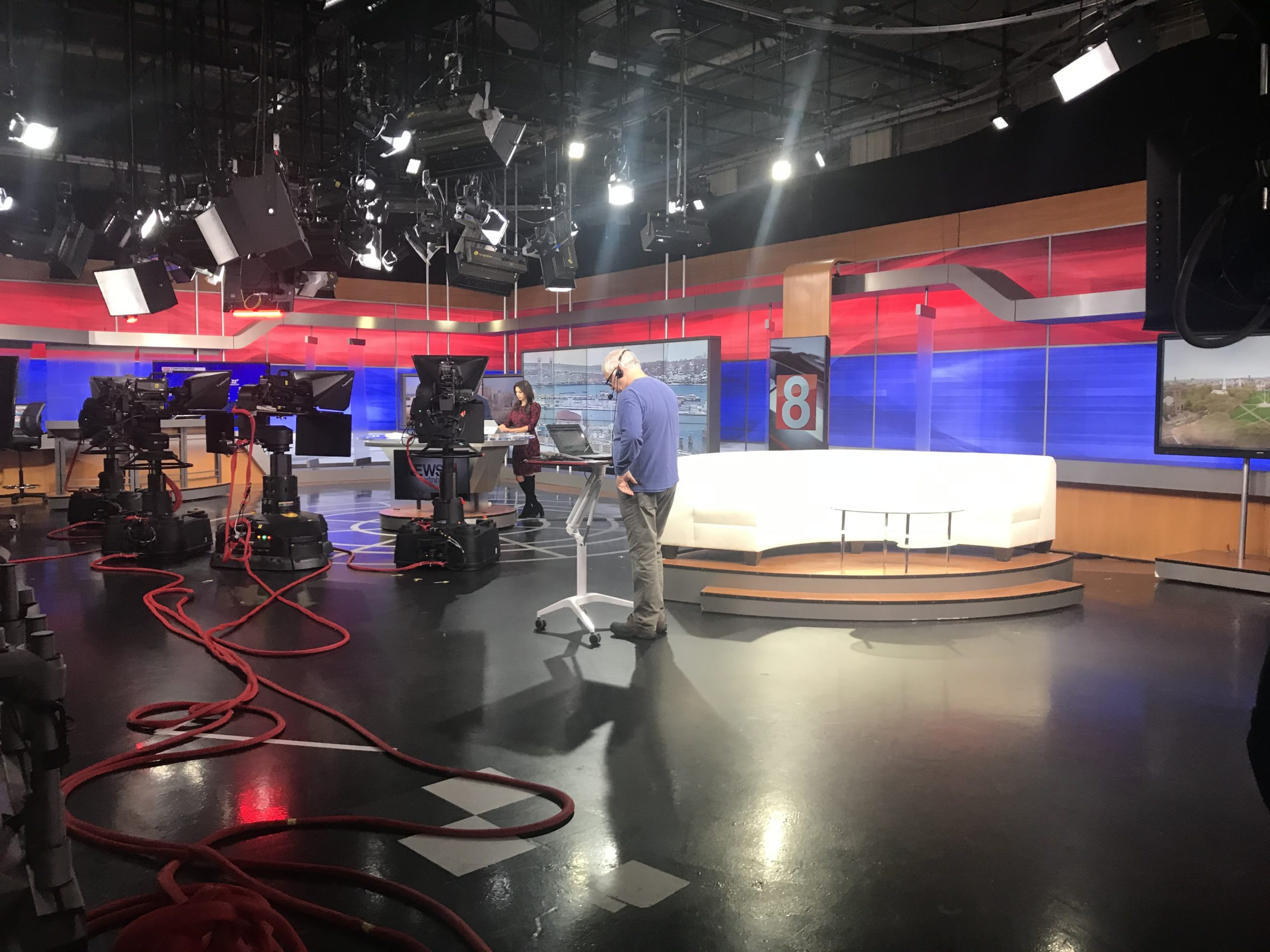 Warde Students Take Trip to News 8